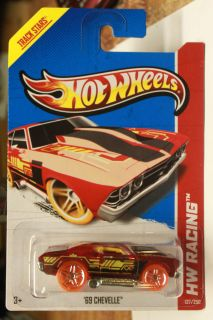Hot Wheels 2013 HW Racing 137 250 69 Chevelle Red