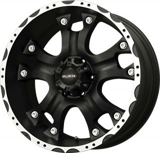 18 inch 18x9 Ballistic Hostel Black Wheels Rims 6x135