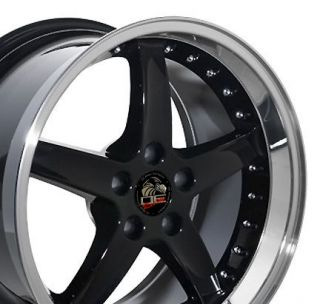18 Rim Fits Mustang® Cobra 05 Wheel Black 18x10