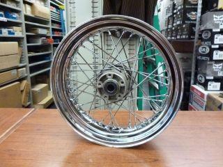 Harley Davidson Dyna 17 x 4 5 Rear Laced Wheel USED Damaged Hub 40979