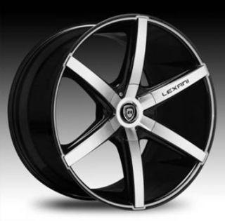 20 Lexani Wheels R 06 Stagger Black Rims G35 CLS Audi Nissan 350Z