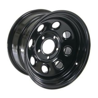 Cragar Soft 8 Black Steel Wheels 15x8 5x5 Set of 4