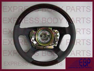 Mercedes Benz Seering Wheel Leaher Wood W140 Gray Grey Dark Burl