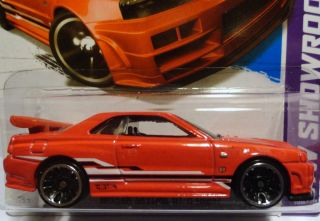 Hot Wheels 2013 158 Nissan Skyline GT R R34 C Case Release HW Showcase