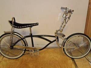 STINGRAY LOW RIDER CHOPPER BIKE BICYCLE TWISTED CHROME 144 SPOKE RIMS