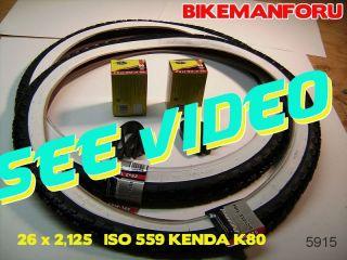 Bicycle 26 x 2 125 Balloon Bike 2 Tire Tube Rimstrip