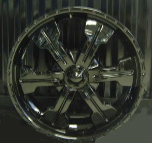 22 Mega 921 Black Wheel 5x127 5x135 Bolt Pattern
