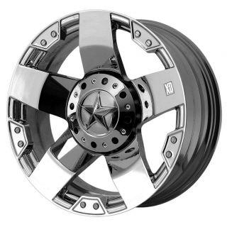 20x8 5 XD Rockstar Chrome Wheels 5x150 Toyota Tundra Toyota Sequoia