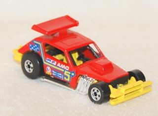 BLACK WALL HOT WHEELS 1978 GREASED GREMLIN AMC STOCK DIRT RACER RED