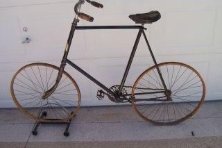 Antique 1890 1897 1900 Victor Wood Rim Bicycle Bike Vintage