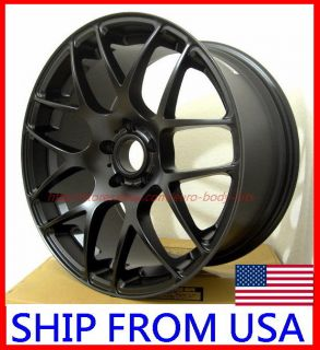 18x8 5J 5x114 3 Black Concave Wheels Acura RSX TSX TL RL MDX RDX