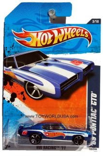 2011 Hot Wheels HW Racing 153 1969 Pontiac GTO Blue