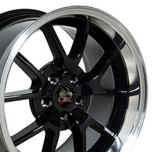 18 Rim Fits Mustang® FR500 Wheel Black 18x10