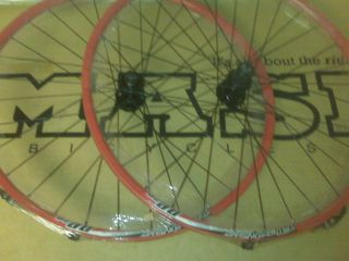 Bicycle 29 inch Disc Wheelset Alex DP 20 Rims Origin 8 Hubs Red