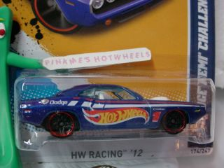 Days 2012 70 DODGE HEMI CHALLENGER 174 Racing BLUE blk pr5 HotWheels