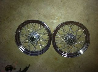 16 40 Spoke Wheels from 05 Heritage Softail Harley Davidson Front