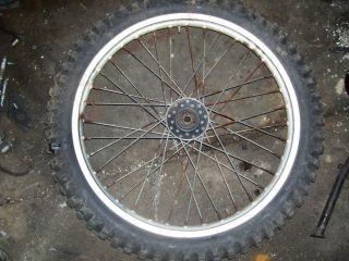 85 Yamaha TT600 TT 600 Front Wheel Hub Rim Spokes Tire XT