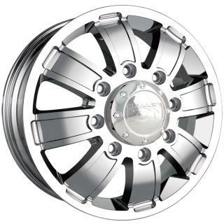 17 inch ion 166 Chrome Wheels Rims Dually 8x6 5 Silverado Sierra RAM
