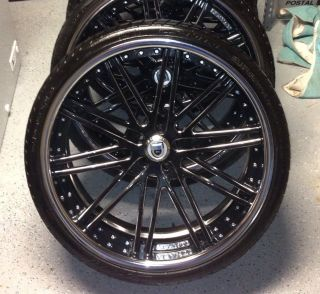 Piece asanti Rims 24 24 inch Chrome Black 300 C Chrysler Charger CX