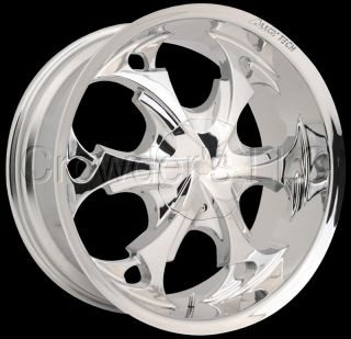 Alloy Tech Truck Car Wheel Rim AT957 Chrome 17 in 5 Lug