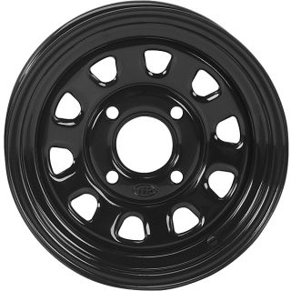 Rhino 350 450 550 660 700 12 ITP Delta Steel Black Wheels Rims
