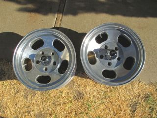 15 x7 ANSEN SPRINT Slot Mag Wheels Rims fit Chevy Ford Truck Pontiac