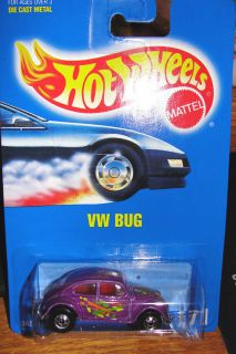 Hot Wheels Volkswagen VW Bug 171 1991 Car Bottom Dated 1988