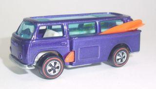 Original Hot Wheels Redline Beach Bomb Purple White Int HK