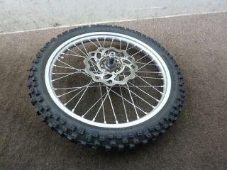 04 Honda CRF250 CRF 250 CRF250R Front Wheel Rim Tire Rotor Axle Hub