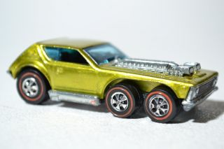 Hot Wheels Redline OPEN FIRE 1972 CAR in SPECTRAFLAME METALLIC YELLOW