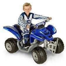 Mega Tredz Yamaha Raptor ATV Blue 12 Volt Power Wheels Ride On