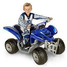 Mega Tredz Yamaha Raptor ATV Blue 12 Volt Power Wheels Ride On