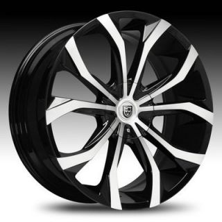 18 inch 18x8 Lexani Lust Black Wheel Rim 8x180