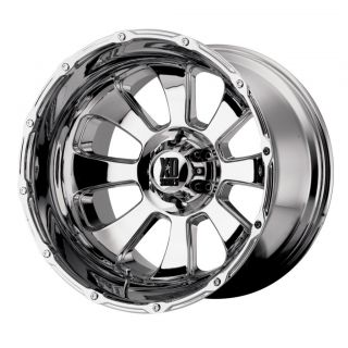 22 inch x14 XD Armour Chrome Wheels Rims 8x6 5 8x165 1