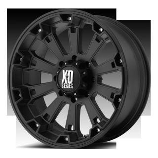 20 XD Series XD800 Misfit Wheel Set Black Offroad Rims