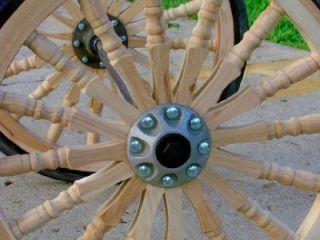 Chariot Wheels or Fancy Turned Wooden Spoke Wheels