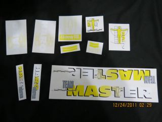 1990 Haro Master Sport Decal Set BMX Old School FST