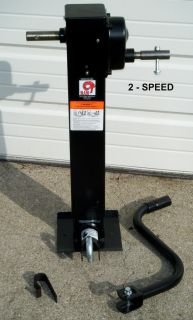 5th Wheel 10000 12000lb Heavy Duty 2 Speed Jack w Drop Leg RAM Jack RV