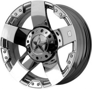 18 inch 18x9 KMC XD Rockstar Chrome Wheels Rims 8x170