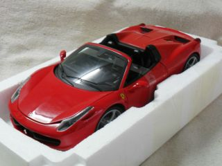 New 1 18 Red Hot Wheels Elite Ferrari 458 Spider RARE Black Interior