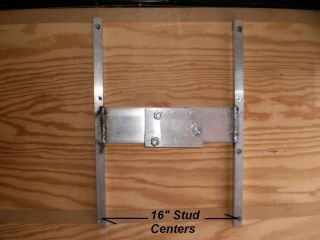 Custom R P Aluminum Trailer Spare Tire Wall Mount Bracket