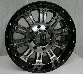 18 x9 XD Series XD795 Hoss Black Machined 5 6 8 Lugs One Single Wheel