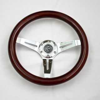 14 Universal Classic Wood Steering Rim for Hot Rods and Replica Cars 6