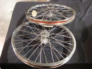 Old School BMX Pro Class Steel Expert Rim Rims 20 Wheel Set