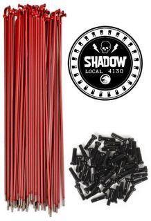 Shadow Bicycle Spokes 182mm BMX Bike Redline Dark Red