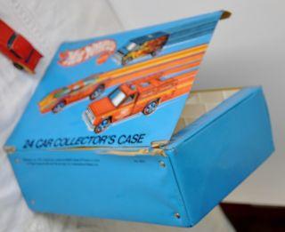 Hot Wheels Mattel Collectors Case Redline Vinyl Cars