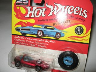 Hot Wheels Vintage Collections Ed Roth Silhouette Candy Red Metallic