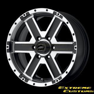 Racing AR681 Element Black Mach 4 5 Lug Wheels Rims Free Lugs