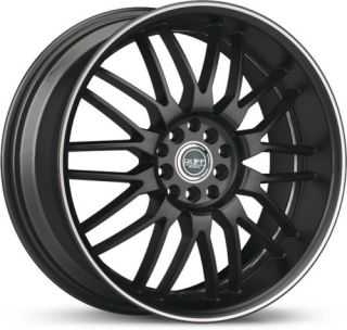 18 x8 Ruff Racing R951 Black Machined Wheels Rims