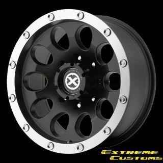 ATX Series AX186 Slot Black Machined 5 6 8 Lugs Wheels Rims FREE LUGS